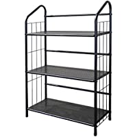 ORE International R597-3 Metal Book Shelf Bookcase, Black