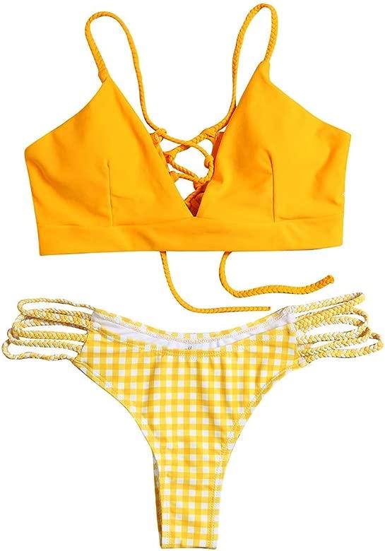 Mujer Bikini 2019 Traje de Baño Mujer Dos Piezas Ropa de Playa Conjunto de Bikinis Impresión Sexy Push up Bikini Tankinis Mujer Beachwear Bañador ...
