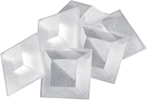 """Soft Touch 4114395N Self-Stick 3/4""""in Noise-Dampening Bumpers (6 Pieces) - Clear, Square, 3/4 Inch"""
