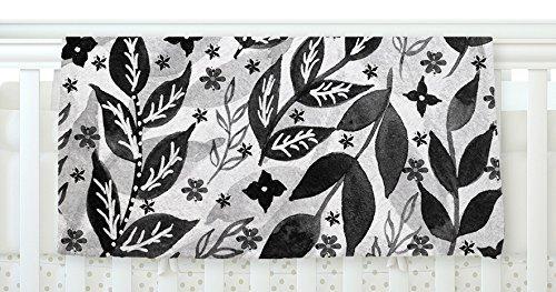 KESS InHouse Li Zamperini Black Foliage Gray White Fleece Baby Blanket 40 x 30 [並行輸入品]   B0785PWHY9