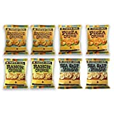 Protein Chips, 10g Protein, 5g Fiber, Assortment 8 Pack, Ranch, Pizza, BBQ,