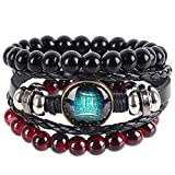 Toponly Womens Leather Cuff Bracelets Feather Wrap Bracelet Gorgeous Crystal Bangle Handmade Jewelry Bohemian Gift for Teens Girls, Mother, Sister, Daughter