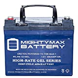 Mighty Max Battery 12V 35AH Gel Battery Replaces U1-36NE w/Nut Bolt Terminal Brand Product