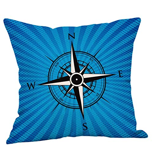 ALLYOUNG Cotton Home Decorative Linen Square Throw Pillow Case Sofa Waist Cushion Cover