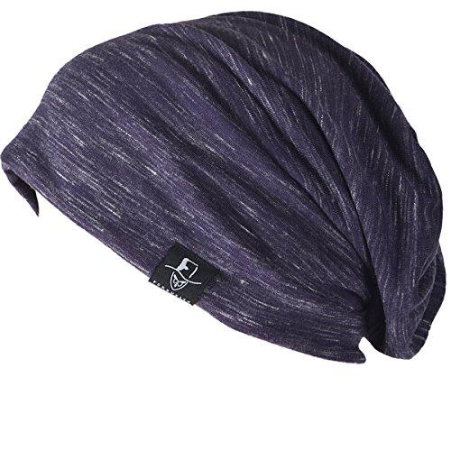 FORBUSITE B018 Distressed Stripe Slouch Beanie Skull Cap for Summer