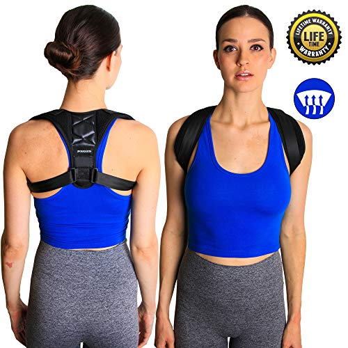 UpgradeWith Posture Corrector and Back Support Brace for Men and Women | [New 2019 FDA Approved] Adjustable Brace Relieves Back and Shoulder Pain, Prevents Slouching and Hunching