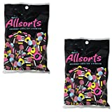 Gustaf's Allsorts Gourmet English Licorice - 2 Pack - 6.3 oz Retail Bags - Natural Color and Flavors