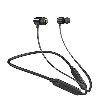 SYW Auriculares inalámbricos a Prueba de Agua Auriculares Bluetooth 4.2 Estéreo Colgante de Cuello magnético Auriculares intrauditivos Adecuado para ...