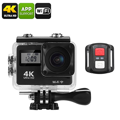 4 K Sport Action Kamera – 170-degree Objektiv, WiFi, 5,1 cm Display, IP68 Wasserdicht Fall, 16 MP CMOS-Sensor, App unterstützt