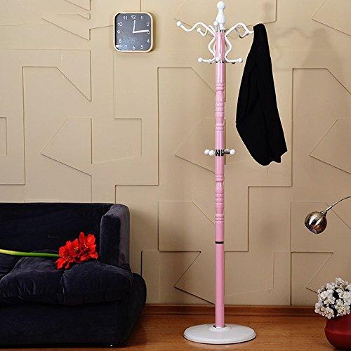 HOMEE Coat Rack, Iron Floor Clothes Hanger Stylish Simplicity Indoor Metal Bedroom Clothes Hanger (Optional Three-Color),#2 by HOMEE
