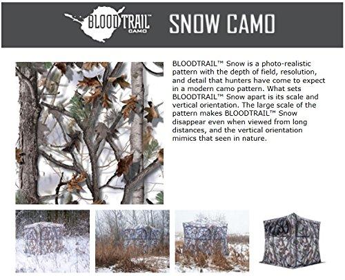Barronett Blinds GR250BTS Grounder 250 Pop Up Portable 2 Person Blind, Bloodtrail Snow Camo