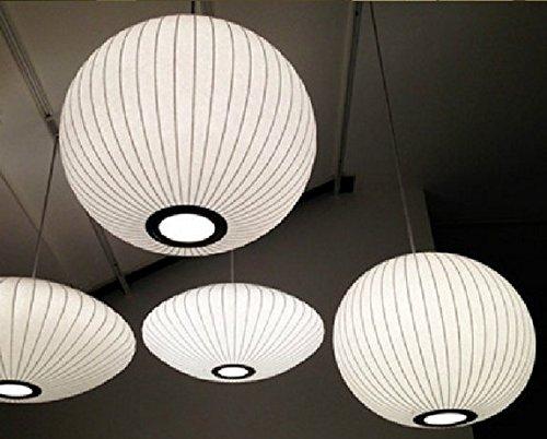 GOWE Silk Chandelier Light E27 Round Suspension Drop Lamp