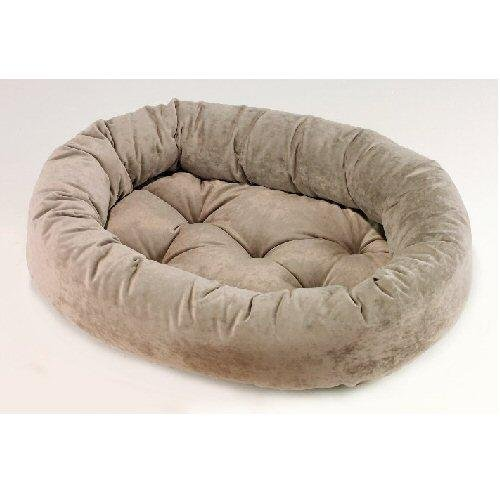 Microvelvet Double Donut Bed - Bowsers Microvelvet Donut Dog Bed (Granite, Large (42in x 32in))