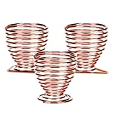 Beauty Blender Holders Elufly 3 Pack Makeup Sponge Drying Rack Egg Powder Puff Display Stand Organizer (Rose Gold)