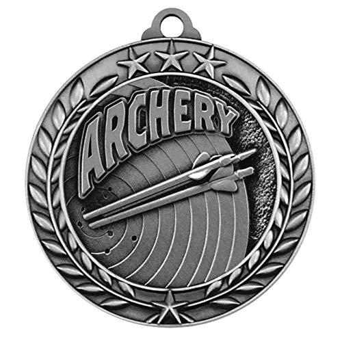Express Medals Archery Silver 2nd Place Medal with Neck Ribbon Award Trophy WAM9 (1) ()