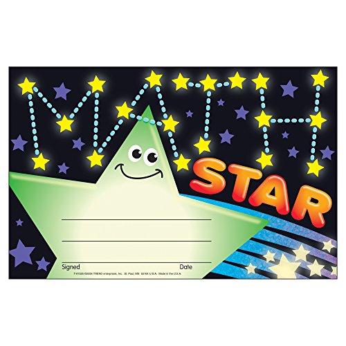TREND enterprises, Inc. Math Star Recognition Awards, 30 ct