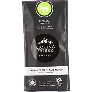 Kicking Horse Coffee, Kick Ass, Dark Roast, Ground, 10 Ounce