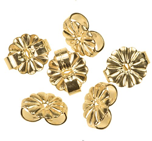 (14K Gold Fill Medium Earring Back 6mm 3-Pairs)