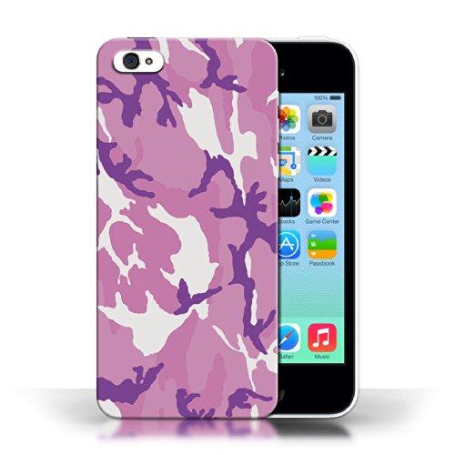 iCHOOSE Print Motif Coque de protection Case / Plastique manchon de telephone Coque pour Apple iPhone 5C / Collection Armée/Marine militaire/Camouflage / Rose 4