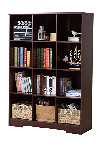 American Furniture Classics 139 12 Compartment Bookcase Not Applicable, Espresso by American Furniture Classics