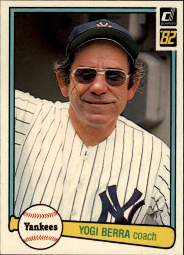1982 Donruss Baseball Card #387 Yogi Berra ()