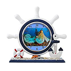 GIRLSIGHT1 Desk/Table Decor Mediterranean Nautical Ship Clocks Living Room Clocks Decoration Blue Sailboat Ornaments-251.Ocean Animal Encyclopedia Oceana(1)