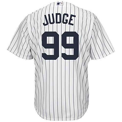 Outerstuff Aaron Judge New York Yankees #99 Youth Cool Base Home Jersey (Youth Medium - Shirt White Yankees Ny