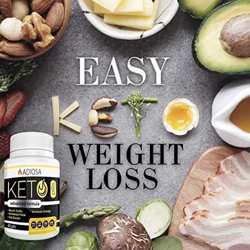 Adiosa Keto Carb Blocker Weight Loss Pills - Supplements to Burn Fat Fast - 60 Pills - Premium Keto Supplement - Keto Appetite Suppressant for Women & Men - Keto Meal Replacement by Adiosa (Image #3)