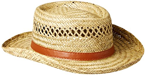 Dorfman Pacific Co. Men's Rush Gambler, Natural, (Mens Straw Hat)