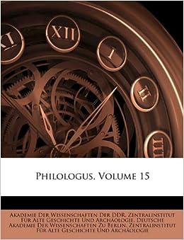 Philologus, Volume 15