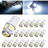 AUTOUS90 20 X T10 Wedge 5 SMD 5050 Cool White LED Light bulbs W5W 2825 158 192 168 194