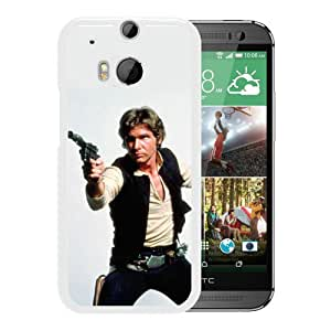 Fashionabe HTC ONE M8 Case ,Popular And Unique Designed Case With Han Solo White HTC ONE M8 Cover Phone Case
