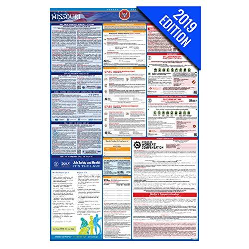 - 2019 Missouri Labor Law Poster - State, Federal, OSHA Compliant - Single Laminated Poster