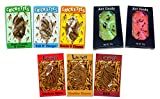 Ant Candy, Original Cricket Snax and Larvets Original Worm Snacks (Bundle of 8 Flavored Insect Snack Items)