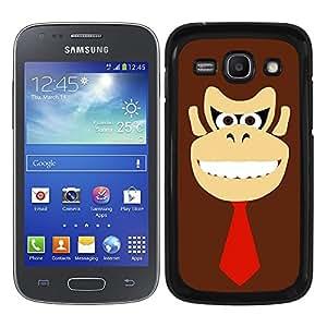 Funda carcasa para Samsung Galaxy Ace 3 diseño gorila con corbata borde negro