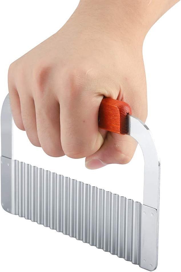 Nudel-Wellencrinkle Gem/üsesalat-Schneidemesser Kartoffel-Wellenmesser Crinkle Kartoffelschneider Wellenklingen-Schneidwerkzeug