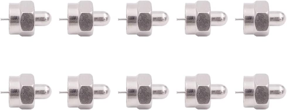 75 Ohm F Type Male Plug Terminator Cap Resistor Ends Protective Cover Waterproof Dustproof Caps Coax Coaxial Connector for Antenna Booster Splitter Amplifier RF FM TV Satellite 4 Pack Fancasee