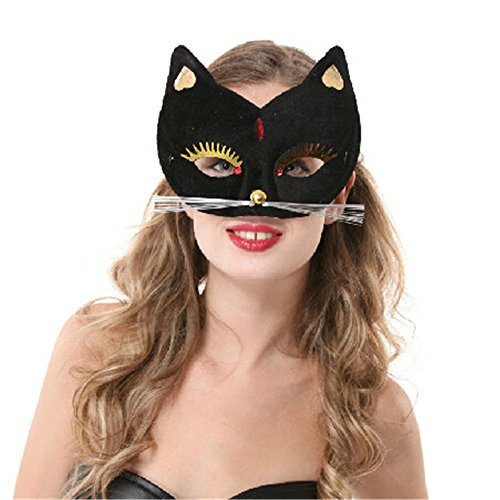 Lsinyan halloween cosply party costume sexy cat mask for women/Bedroom games cats Masks sexy black