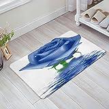 x factor door gym - Women Trend Blue Rose Flowers Indoor Floor Mats Bedroom Hallway Door Mat Anti-Slip Soft Doormat Entrance Rugs Washable Carpets for Living Room Kitchen 15.7 x 23.6 Inch