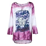 Printing Tops,Toimoth Women Plus Size Long Sleeves Printing Tops Loose Blouse(Purple,S)