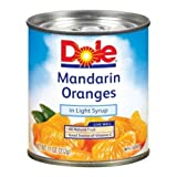 Dole Mandarin Oranges in Light Syrup, 11 Ounce - 12 per case.