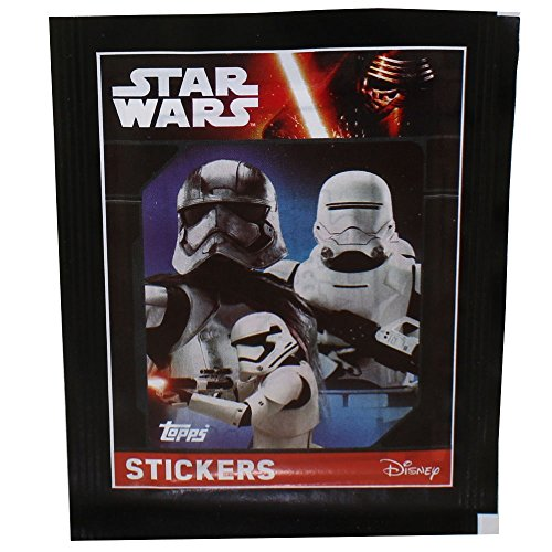 Topps Collectible Stickers - Star Wars The Force Awakens Series 1 - PACK (5 Stickers) (Series Star Wars Sticker 1)
