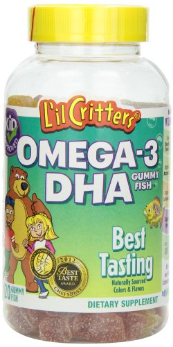 L'il Critters Omega-3 Gummy Fish with DHA, 120-Count Bottles (Pack of 3), Health Care Stuffs