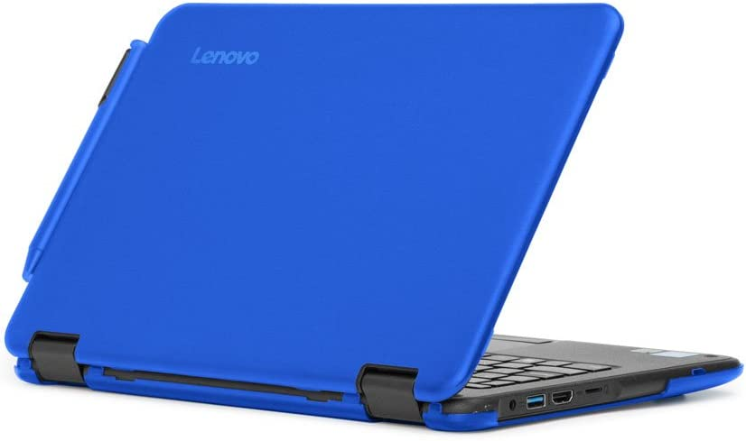 """mCover Hard Shell Case for 2017 11.6"""" Lenovo N24/300E Series Windows Laptop (NOT Fitting Lenovo N21/N22/N23 Series Chromebook Laptop) (Blue)"""