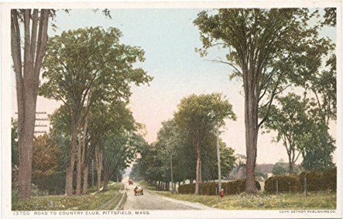Historic Pictoric Postcard Print   Road to Country Club, Pittsfield, Mass, 1898   Vintage Fine Art