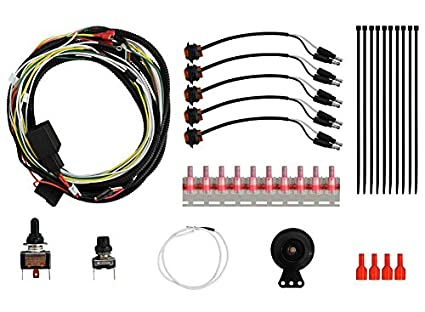 superatv universal atv/utv turn signal kit (with toggle turn switch and  dash mount