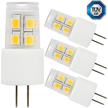 Pack 2W G4 LED Light Bulb, 20W Halogen Bulb Equivalent, AC/DC 12V ...