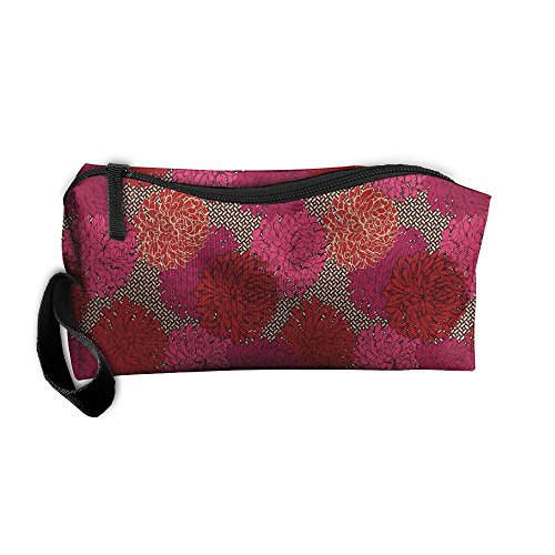 Marigold Coins (Wild-Goose Red Marigold Portable Collect Bag Receive Bag Sewing Kit Cosmetic Bag Rectangular Pouch)
