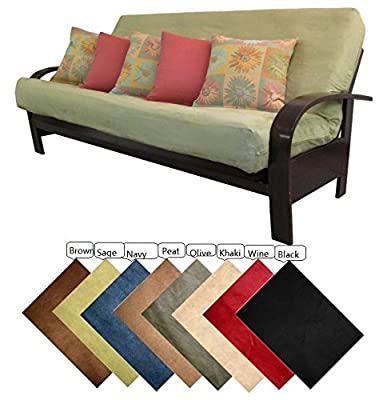 OctoRose Full Size Bonded Classic Soft Micro Suede Futon Cover Sofa Bed Mattress Cover