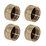 Joyway 4Pcs 1LB Propane Solid Brass Gas Tank Bottle Cap Propane Refill Adapaters Safety